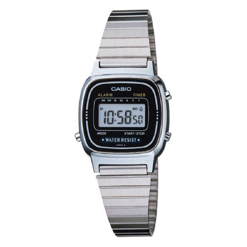 CASIO Classic Digital Alarm Chrono RETRO Ladies Watch LA670WA-1